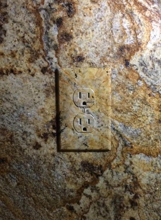 Granite Switch Plate Faux