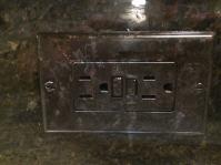 Metallic Granite Switch Plate