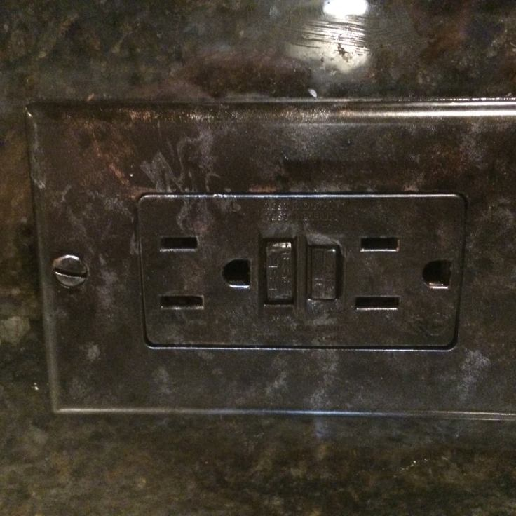 Metallic Granite Switch Plate