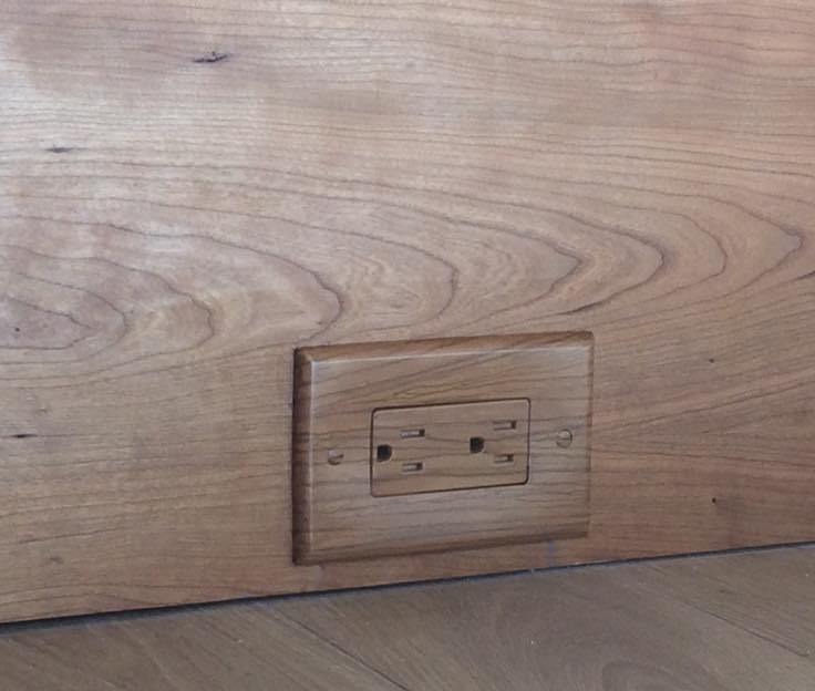 2 wood switchplate