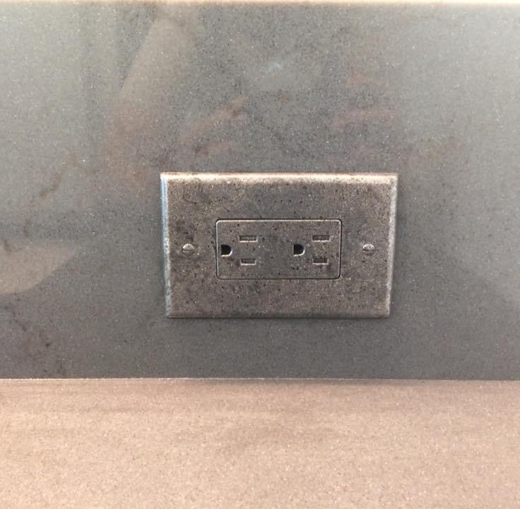 4 granite switch plate